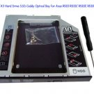 2nd SATA3 Hard Drive SSD Caddy Optical Bay for Asus R510 R510C R510E R510L R510V