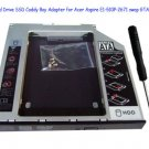 2nd Hard Drive SSD Caddy Bay Adapter for Acer Aspire E1-510P-2671 swap GTA0N