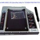 SATA 2nd HARD DRIVE SSD Optical Bay Caddy for TOSHIBA P750 P755 P770 P505