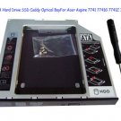 2nd SATA Hard Drive SSD Caddy Optical Bay For Acer Aspire 7741 7741G 7741Z 7741ZG