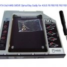IDE to SATA 2nd HARD DRIVE Optical Bay Caddy for ASUS F8 F80 F81 F82 F83 F9