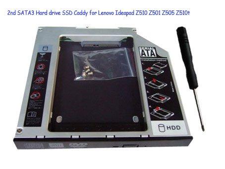 2nd SATA3 Hard drive SSD Caddy for Lenovo Ideapad Z510 Z501 Z505 Z510t