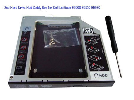 2nd Hard Drive Hdd Caddy Bay for Dell Latitude E5500 E5510 E5520