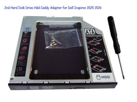 2nd Hard Disk Drive Hdd Caddy Adapter for Dell Inspiron 1525 1526