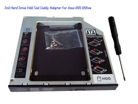 2nd Hard Drive Hdd Ssd Caddy Adapter for Asus G55 G55vw
