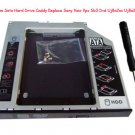 2nd 9.5mm Sata Hard Drive Caddy Replace Sony Vaio Vpc Sb3 Dvd Uj8a2as Uj8a2