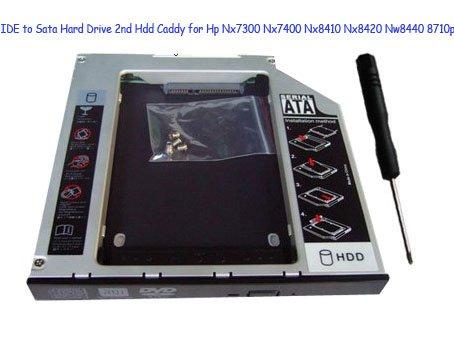IDE to Sata Hard Drive 2nd Hdd Caddy for Hp Nx7300 Nx7400 Nx8410 Nx8420 Nw8440 8710p