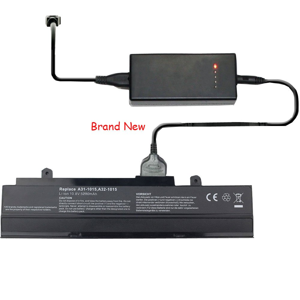 External Laptop Battery Charger for Asus Eee PC 1215 1215N 1215PN