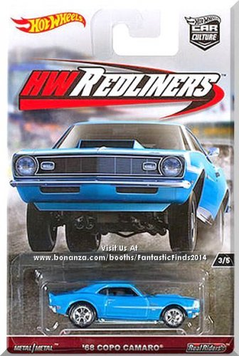Hot Wheels - '68 COPO Camaro: Car Culture - HW Redliners #3/5 (2017) *Blue*