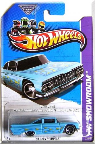 Hot Wheels - '59 Chevy Impala: HW Showroom 2013 - Heat Fleet #220/250 *Blue*