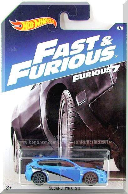 Hot Wheels - Subaru WRX STI: Fast & Furious Series #8/8 (2017) *Furious 7*