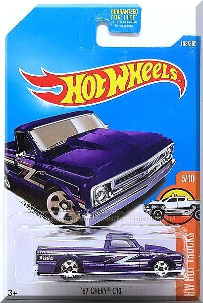 Hot Wheels - '67 Chevy C10: HW Hot Trucks #158/365 (2017) *Purple Edition*