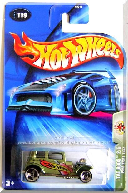 Hot Wheels - Ford Vicky 1932: Tat Rods #2/5 - Collector #119 (2004) *3 Spoke*