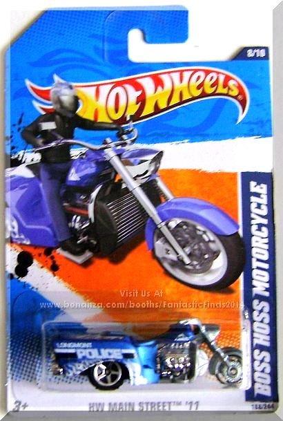 Hot Wheels - Boss Hoss Motorcycle: HW Main Street '11 #8/10 - #168/244 *Blue*