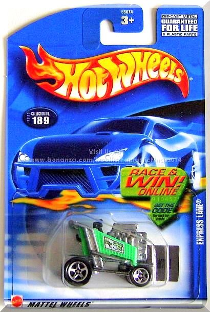 Hot Wheels - Express Lane: Collector #189 (2002) *Green Edition / Race & Win!*