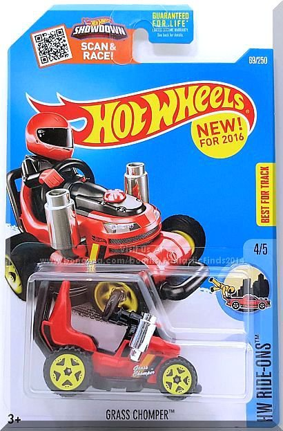 Hot Wheels - Grass Chomper: HW Ride-Ons #4/5 - #69-250 (2016) *Red Edition*