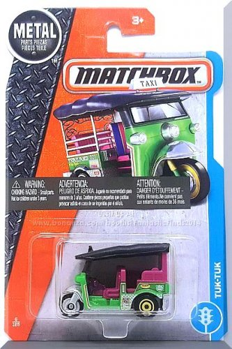 Matchbox - Tuk-Tuk: MBX Adventure City #6/125 (2017) *Green Edition*