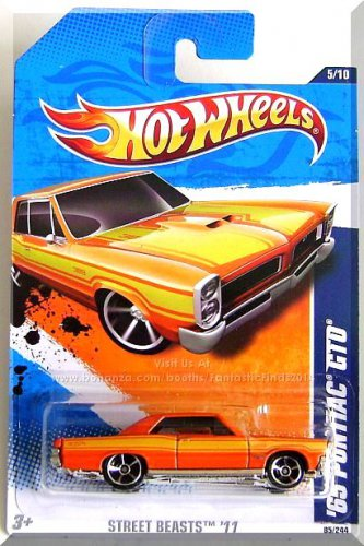 Hot Wheels - '65 Pontiac GTO: Street Beasts '11 #5/10 - #85/244 *Orange Edition*