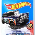 Hot Wheels - '55 Chevy Bel Air Gasser: HW Flames #2/10 - #109/365 (2017) *Blue*