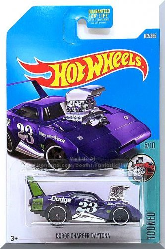 Hot Wheels - Dodge Charger Daytona: Tooned #5/10 - #103/365 (2017) *Purple*