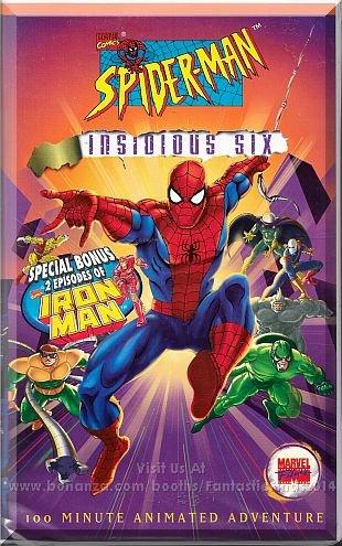 VHS - Spider-Man: Insidious Six (1995) *100 Minute Animated Adventure / Marvel*