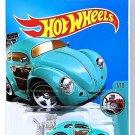 Hot Wheels - Volkswagen Beetle: Tooned #7/10 - #74/365 (2017) *Turquoise*