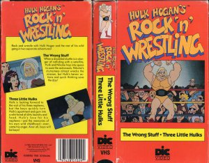 ORIGINAL WWF-WWE VHS HULK HOGAN ROCK &#039;N&#039;WRESTLING THE WRONG STUFF - THREE LITTLE HULKS