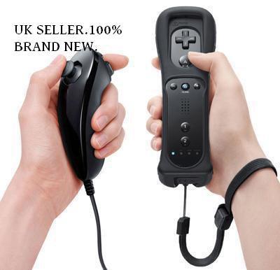 Nintendo Wii Nunchuck and remote (Black)