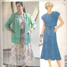 1987 McCalls 3012 Pattern Unlined Jacke, Dress w/Shoulder Gathers Tie Belt  Size 12 1/2 Uncut