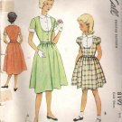 McCalls 8192 Pattern Vintage 50s Girls Dress Size 12 Cut