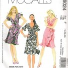 2010 McCalls 6024 Pattern Wrap A-Line Dress w/Flounce Size 6024 Uncut