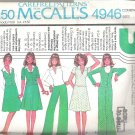 1976 McCalls 4946 Pattern Vintage 1970s Jacket Skirt Pants Vest Top Size 12-16 Part Cut to 16