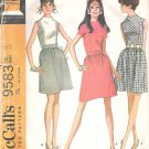 1968 McCalls 9583 Pattern Vintage Dress High Neck Gathered Waist Size 16 Part Cut