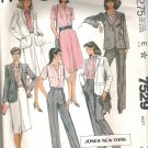 1981 McCalls 7529 Pattern Jacket, Shirt, Skirt and Pants Size 18 Cut
