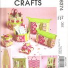 2011 McCalls 6374 Pattern Ironing Board Cover, Organizers, Zip Case Pin Cushions Uncut