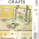 2009 McCalls 5871 Pattern Tote, Organizer, Pincushion and Machine Apron  Uncut