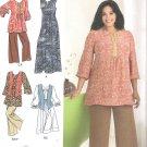 2009 Simplicity 2635 Pattern Plus Size Tunic, Dress, Vest, Pants, Dress Size 18W-24W Uncut