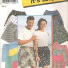 1994 Simplicity 9057 Pattern Mens Womens Teens Shorts Size XXS-XL Cut to L