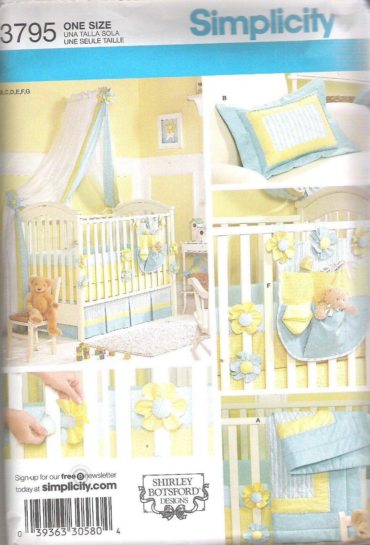 2007 Simplicity 3795 Nursery Decor  Uncut