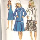 1972 Simplicity 9866 Pattern Vintage Dress and Blazer Size 14 Cut