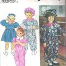 1993 Simplicity 8574 Pattern Toddler's Dress, Jumpsuit  Hat  Size 1-4   Cut to 4