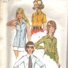 1972 Simplicity 5022 Pattern Blouse Shirt Top Tie  Size 12  Cut