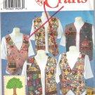 1996 Simplicity 7279 Pattern Crafty Vest  Size XS, S, M  Uncut