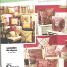 2005 Simplicity 5605 Pattern 10 Great Pillows Square, Rectange, Octagon  Uncut