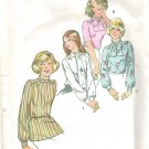 1974 Simplicity 6625 Pattern  Blouse Top Shirt and Scarf  Size 16  Cut