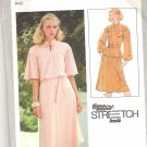 1978 Simplicity 8514 Pattern Pullover 2 Piece Dress Tie Belt Stretch Knit Only Size 10-14  Part Cut