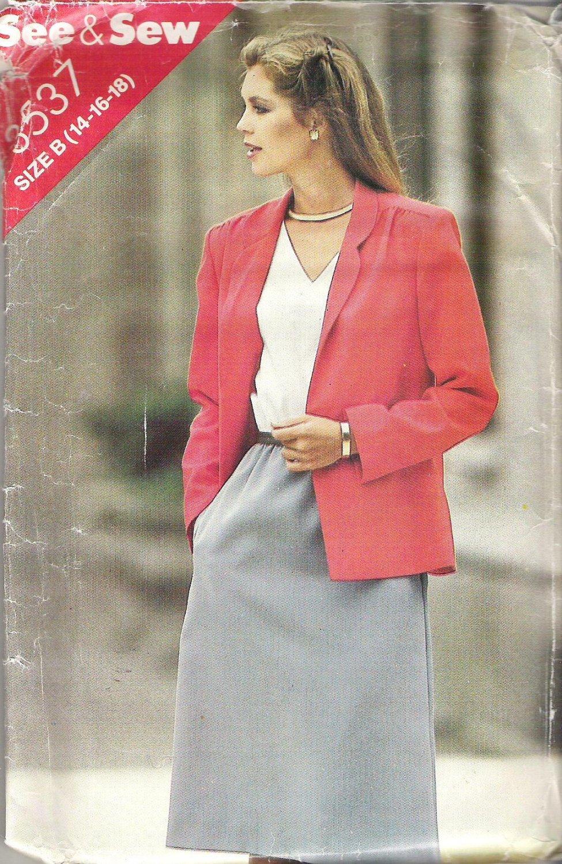 Butterick 3537 Pattern See & Sew Jacket and Sleeveless Elastic Waist Dress Size 14-18   Cut to 18