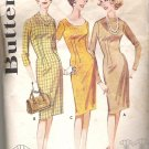 Butterick 2535  Vintage Pattern Sheath Dress  Size 10-20 for Tall, Medium, Short  Partially Cut Med