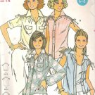 Butterick 6107 Pattern  Blouse Shirt Top with Drawstring Shoulders  Size 14   Cut