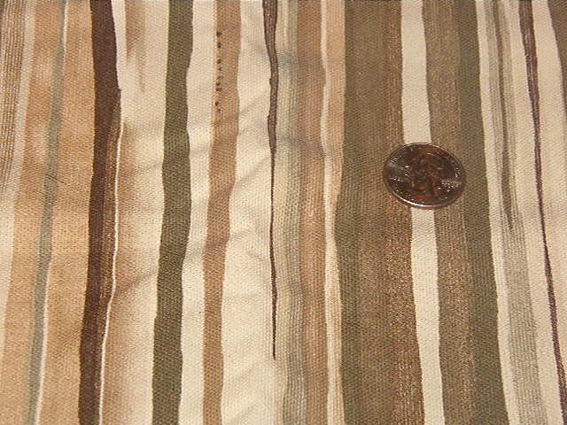 """Natural Olive Brown Tan Lightweight Home Decor Fabric  1 3/4 yds x 36"""" wide"""